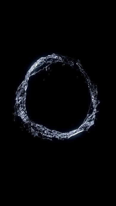 圆圈 水珠 简约 创意 黑