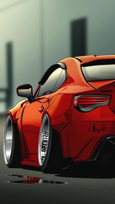 跑车 红色 抛光 烤漆 亮 酷 设计