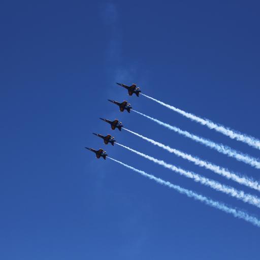 蓝色天使 飞机 海军陆战队员 飞行 喷射 军事 航展