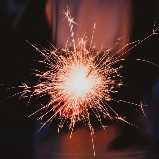 烟花棒 星火 花火 节日庆祝 光 新年
