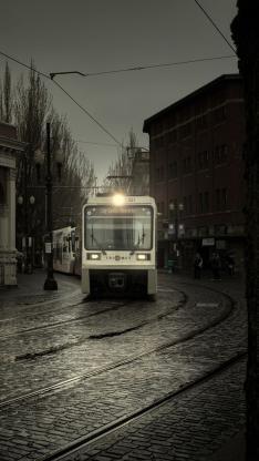 电车 街道 城市 风景 景色