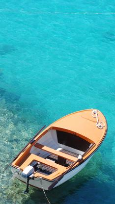 船 大海 停靠 港口 蓝色