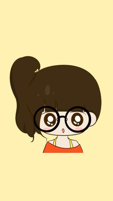 日本动漫 卡通 黄色 女孩