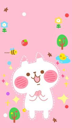兔子 卡通 粉色 卡爱
