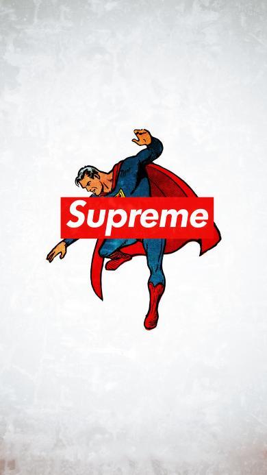 超人 潮牌 supreme 插画