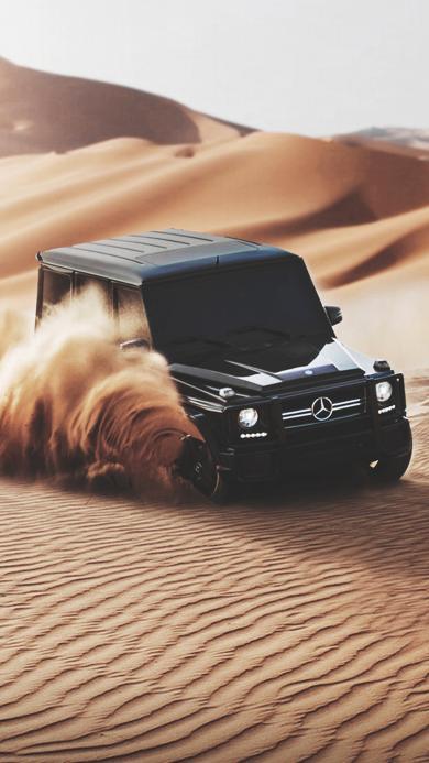 沙漠 奔驰 汽车 名车 豪车