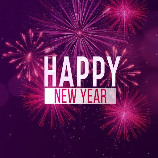happy new year 烟花 紫色 节日 喜庆