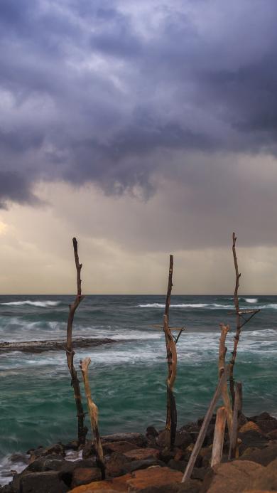 大海 海岸 斯里兰卡 渔 海 天空