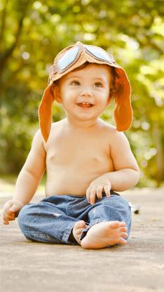 欧美 小男孩 可爱 军帽