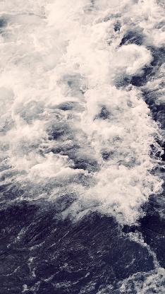 海 浪花 蓝色 风景