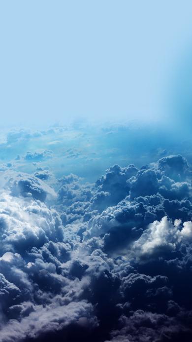 云端 云层 蓝色 天空