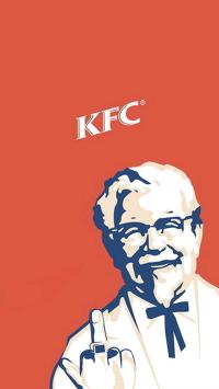 肯德基 KFC 竖中指
