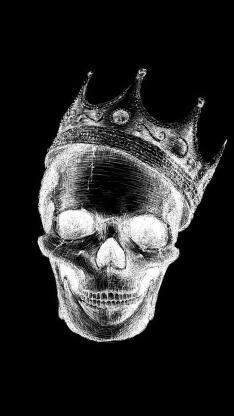 王冠 骷髅 吓人 恐怖