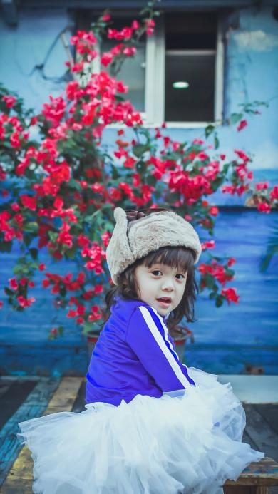 放开我北鼻 哈琳 萌娃 可爱 小天使 帽子