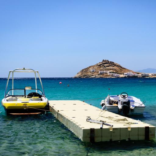 蓝色大海 渔船 小泥山 风景