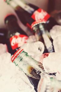 可口可乐 冰块 饮料 汽水