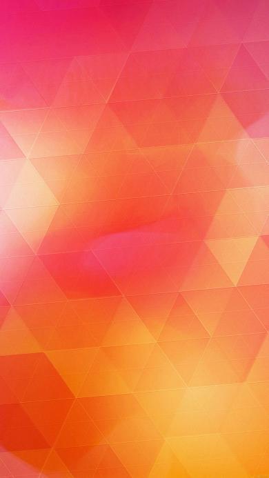 几何 渐变 红色 黄色 图形