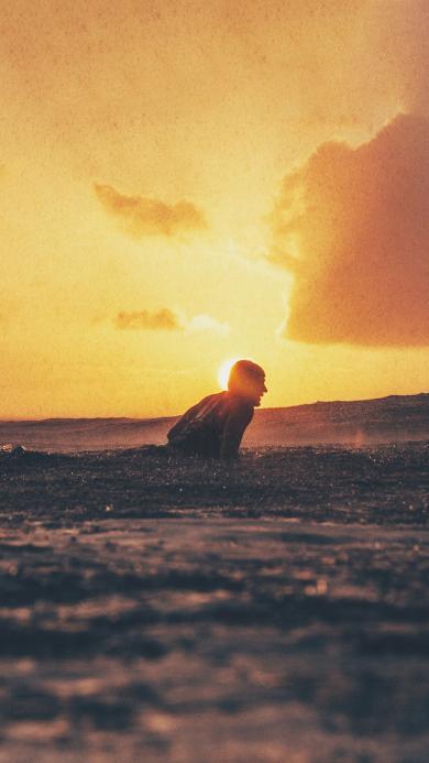 大海 海水 风景 夕阳