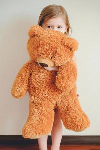 小女孩 欧美 熊娃娃 可爱 宝宝