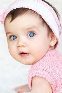 女宝宝 粉色 欧美 蓝眼睛 可爱 萌