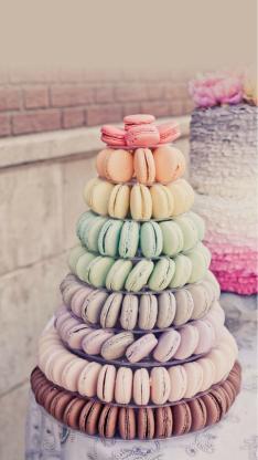 静物 马卡龙 美食 甜品 甜品塔