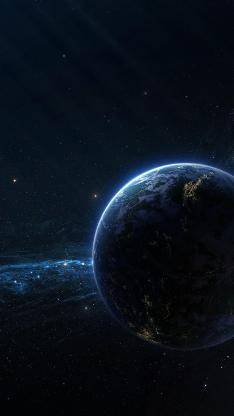 宇宙 星球 太空 梦幻 黑色 地球