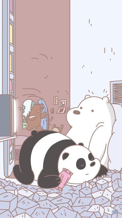 咱们裸熊 卡通 熊猫 北极熊