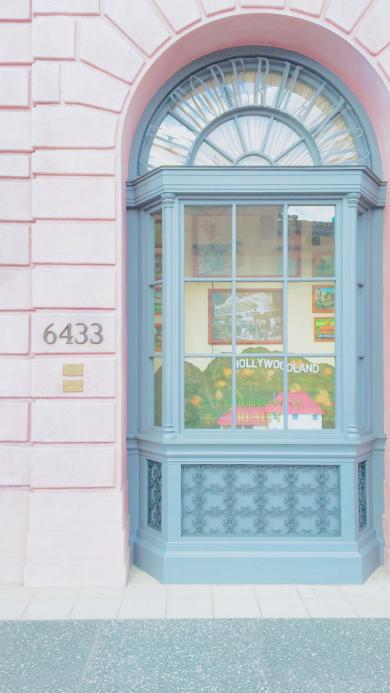 橱窗 欧美 粉色 店铺 街道