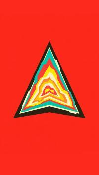 三角 创意 红色 方块