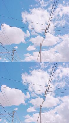 蓝天 天空 风景 电线