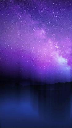 紫色星空 梦幻 唯美