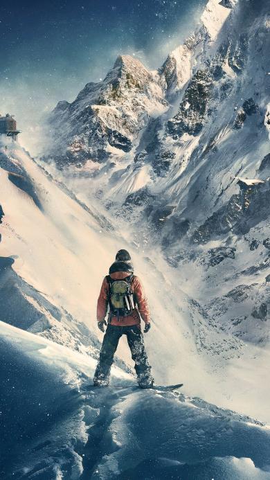 雪山 风景 景色 攀登