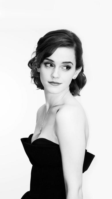 Emma Watson 艾玛沃森 演员 明星 欧美 黑白