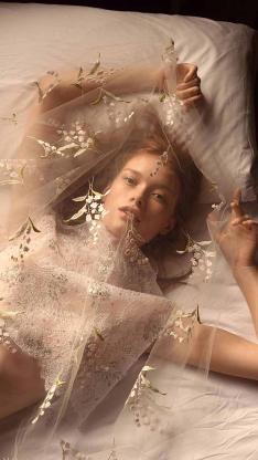 欧美美女 创意写真 蕾丝