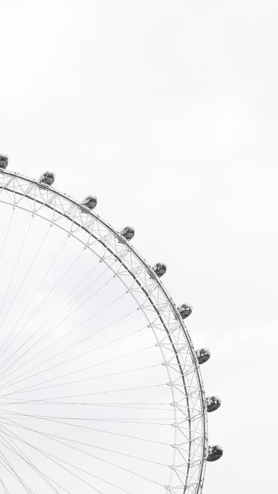 摩天轮 娱乐设施 圆形 白色 天空