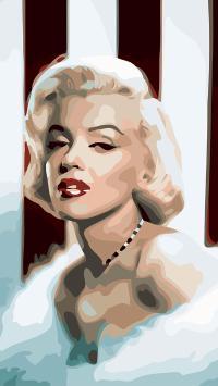 玛丽莲梦露 演员 性感 色块 设计