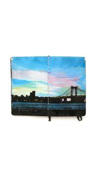 大桥 创意 卡通 书本