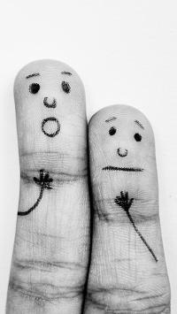 手指 小人 害怕 形象