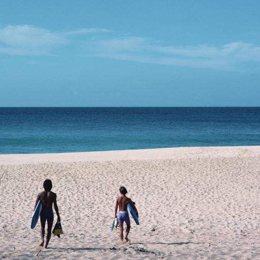 大海 沙滩 蓝天 冲浪