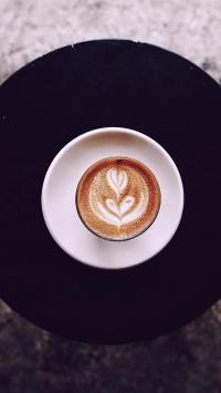 拉花 创意 咖啡 盘子