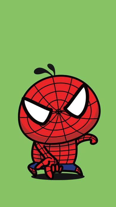 卡通 可爱 蜘蛛侠 创意