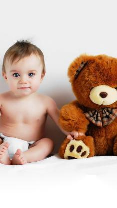 宝宝 熊娃娃 可爱 萌宝 欧美