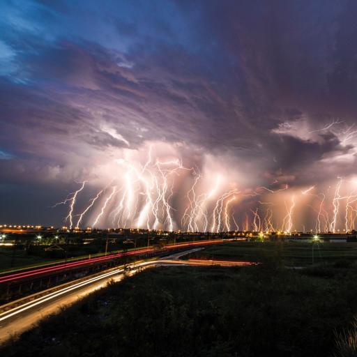 闪电 风景 雷电 乌云