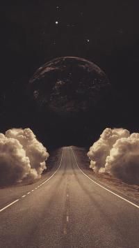 地球 创意 跑道 夜空