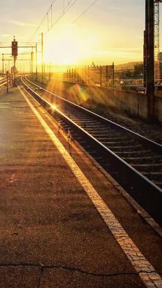 铁路 风景 阳光 铁轨