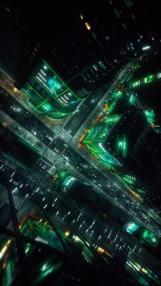 城市 都市 夜景 灯光 车流