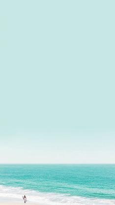 大海 天空 蔚蓝 沙滩