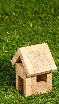 草地 草坪 积木 木屋