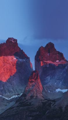 蓝天 火山石 红色 自然风景