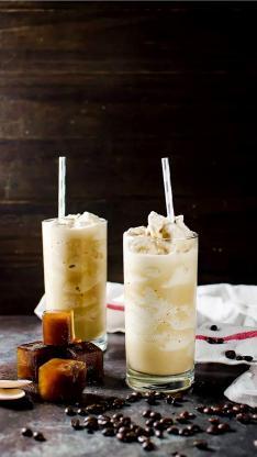 饮料 夏日 咖啡豆 冰块